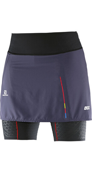 Salomon W's S-Lab EXO Skort Black/Nightshade Grey